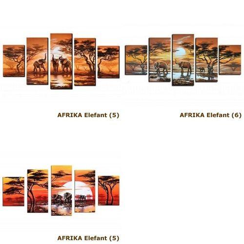 4 Leinwandbilder AFRIKA Elefant (4) 120 x 70cm Handgemalt - 4