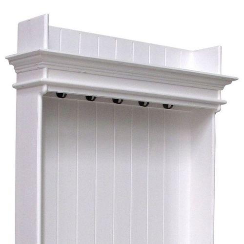 Mahagoni Garderobe mit Sitzbank JOSEPHINE Antikweiß 100 x 190cm - 2