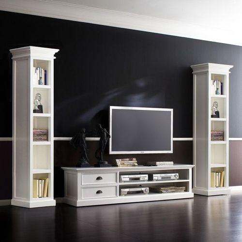 Mahagoni TV-Tisch JOSEPHINE Antikweiß 180 x 45cm - 2