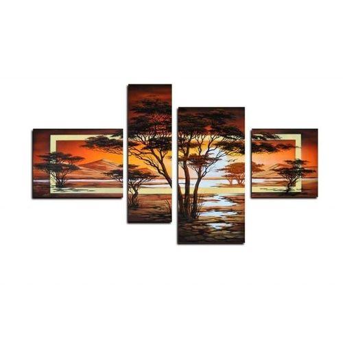 4 Leinwandbilder AFRIKA Baum (3) 120 x 70cm Handgemalt - 1
