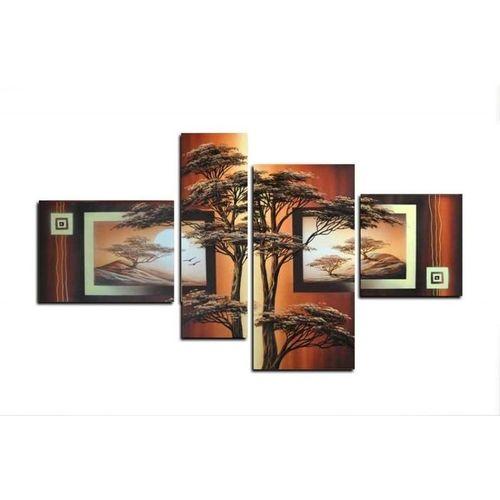 4 Leinwandbilder AFRIKA Baum (4) 120 x 70cm Handgemalt - 1