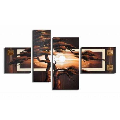 4 Leinwandbilder AFRIKA Baum (5) 120 x 70cm Handgemalt - 1