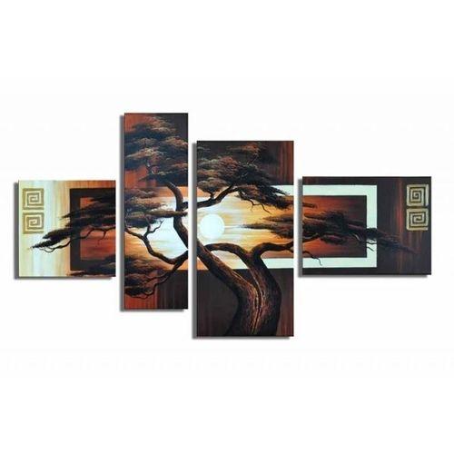 4 Leinwandbilder AFRIKA Baum (6) 120 x 70cm Handgemalt - 1