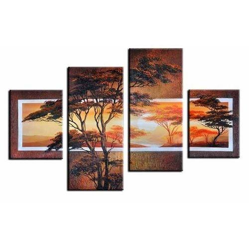 4 Leinwandbilder AFRIKA Baum (9) 120 x 80cm Handgemalt - 1