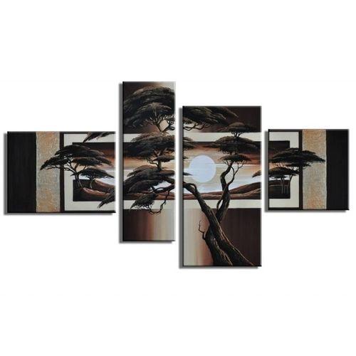 4 Leinwandbilder AFRIKA Baum (13) 120 x 70cm Handgemalt - 1