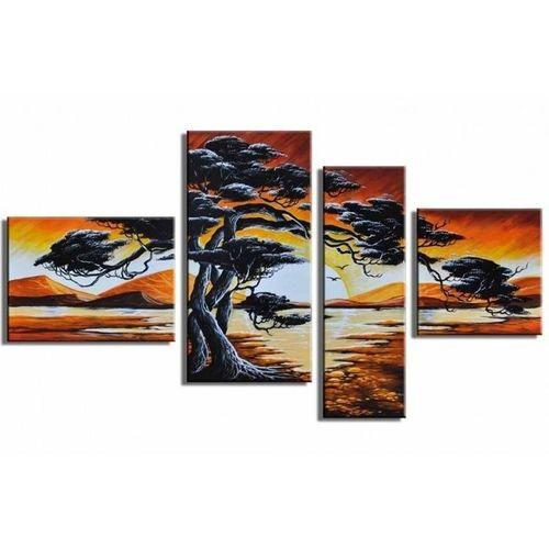 4 Leinwandbilder AFRIKA Baum (15) 120 x 70cm Handgemalt - 1