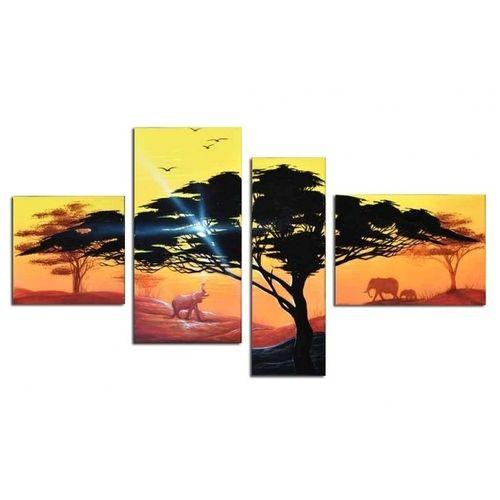 4 Leinwandbilder AFRIKA Baum (16) 120 x 70cm Handgemalt - 1