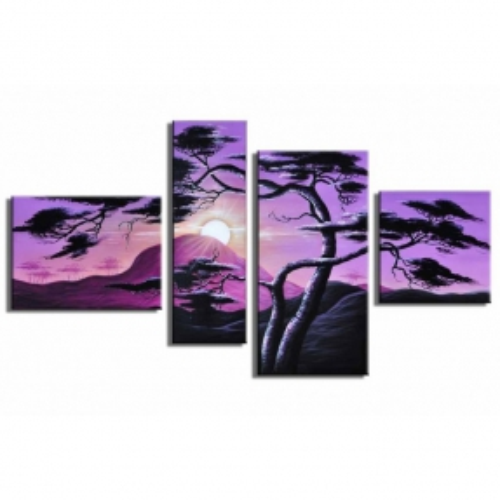 4 Leinwandbilder AFRIKA Baum (17) 120 x 70cm Handgemalt - 1