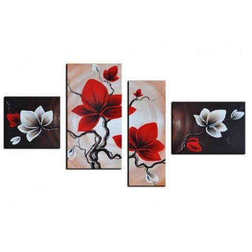 4 Leinwandbilder MAGNOLIA (1) 120 x 70cm Handgemalt - 1