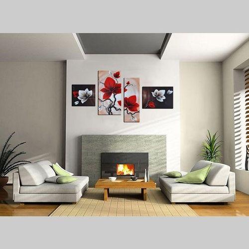 4 Leinwandbilder MAGNOLIA (1) 120 x 70cm Handgemalt - 2