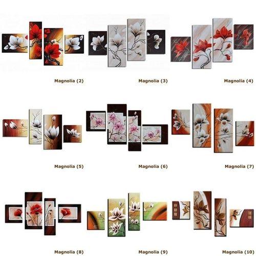 4 Leinwandbilder MAGNOLIA (1) 120 x 70cm Handgemalt - 3