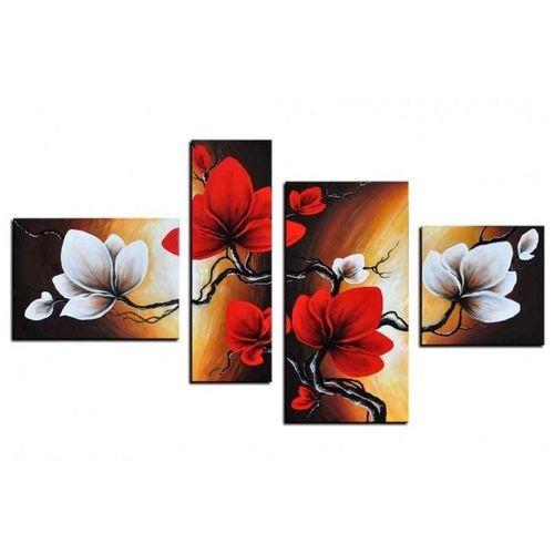 4 Leinwandbilder MAGNOLIA (2) 120 x 70cm Handgemalt - 1