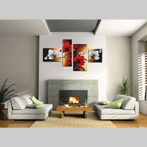 4 Leinwandbilder MAGNOLIA (2) 120 x 70cm Handgemalt - 2