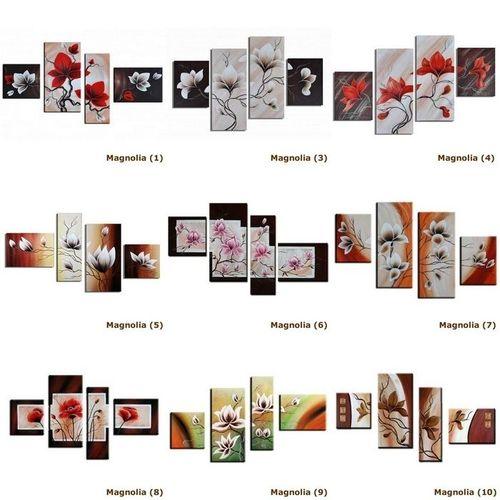 4 Leinwandbilder MAGNOLIA (2) 120 x 70cm Handgemalt - 3