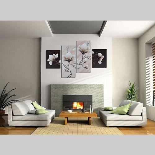 4 Leinwandbilder MAGNOLIA (3) 120 x 80cm Handgemalt - 2