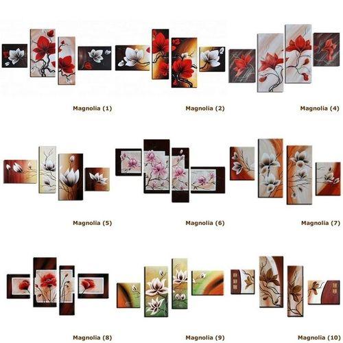 4 Leinwandbilder MAGNOLIA (3) 120 x 80cm Handgemalt - 3