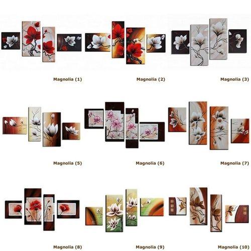 4 Leinwandbilder MAGNOLIA (4) 120 x 80cm Handgemalt - 3