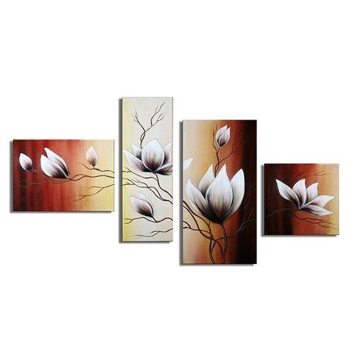 4 Leinwandbilder MAGNOLIA (5) 120 x 70cm Handgemalt - 1