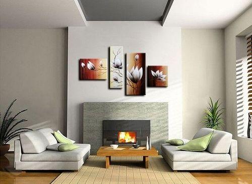 4 Leinwandbilder MAGNOLIA (5) 120 x 70cm Handgemalt - 2