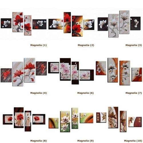 4 Leinwandbilder MAGNOLIA (5) 120 x 70cm Handgemalt - 3