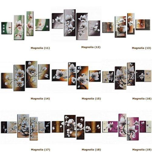 4 Leinwandbilder MAGNOLIA (5) 120 x 70cm Handgemalt - 4