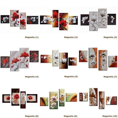 4 Leinwandbilder MAGNOLIA (6) 120 x 70cm Handgemalt - 3