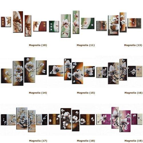 4 Leinwandbilder MAGNOLIA (12) 120 x 80cm Handgemalt - 4