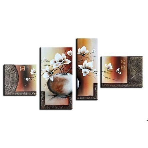 4 Leinwandbilder MAGNOLIA (13) 120 x 70cm Handgemalt - 1