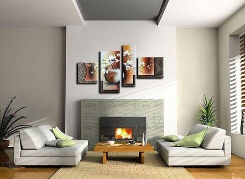 4 Leinwandbilder MAGNOLIA (13) 120 x 70cm Handgemalt - 2