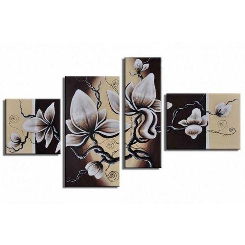 4 Leinwandbilder MAGNOLIA (16) 120 x 70cm Handgemalt - 1
