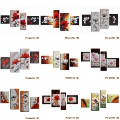 4 Leinwandbilder MAGNOLIA (16) 120 x 70cm Handgemalt - 3