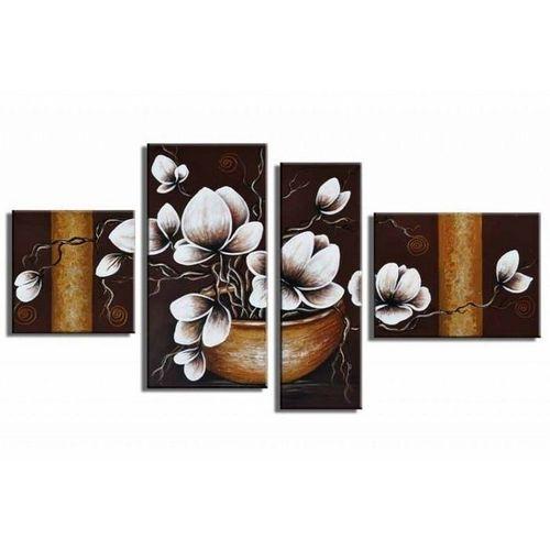 4 Leinwandbilder MAGNOLIA (18) 120 x 70cm Handgemalt - 1