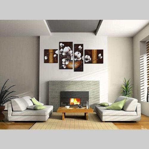 4 Leinwandbilder MAGNOLIA (18) 120 x 70cm Handgemalt - 2