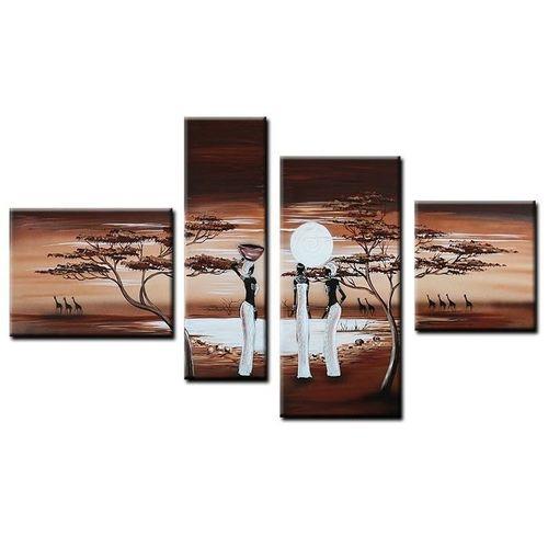 4 Leinwandbilder AFRIKA Frau (4) 120 x 70cm Handgemalt - 1