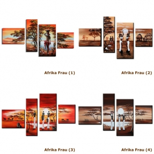 4 Leinwandbilder AFRIKA Frau (4) 120 x 70cm Handgemalt - 3