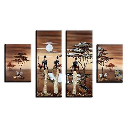 4 Leinwandbilder AFRIKA Frau (6) 120 x 70cm Handgemalt - 1