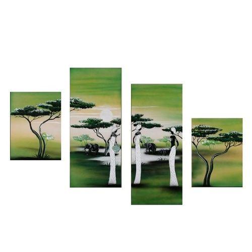 4 Leinwandbilder AFRIKA Frau (7) 120 x80cm Handgemalt - 1