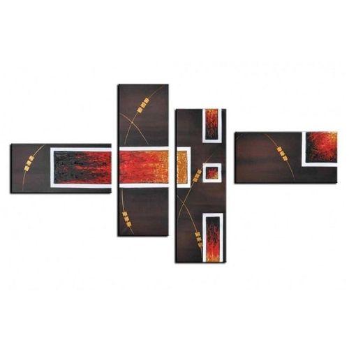 4 Leinwandbilder ABSTRAKTE KUNST (4) 120 x 70cm Handgemalt - 1