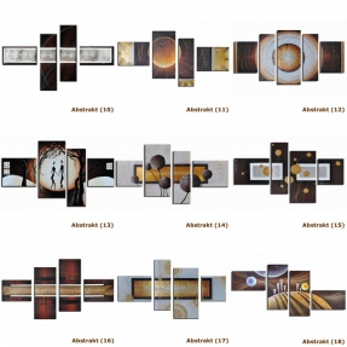 4 Leinwandbilder ABSTRAKTE KUNST (4) 120 x 70cm Handgemalt - 4