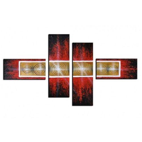 4 Leinwandbilder ABSTRAKTE KUNST (5) 120 x 70cm Handgemalt - 1