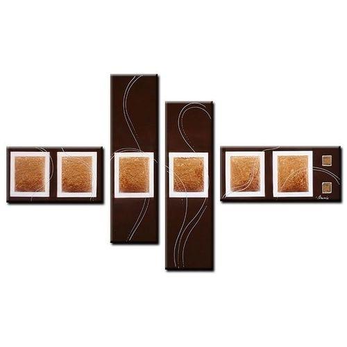 4 Leinwandbilder ABSTRAKTE KUNST (7) 120 x 70cm Handgemalt - 1