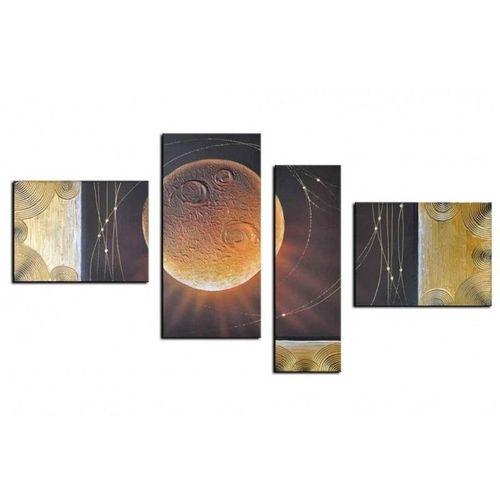 4 Leinwandbilder ABSTRAKTE KUNST (11) 130 x 70cm Handgemalt - 1