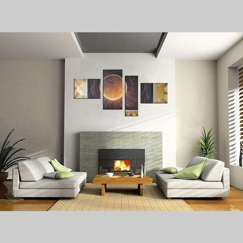 4 Leinwandbilder ABSTRAKTE KUNST (11) 130 x 70cm Handgemalt - 2