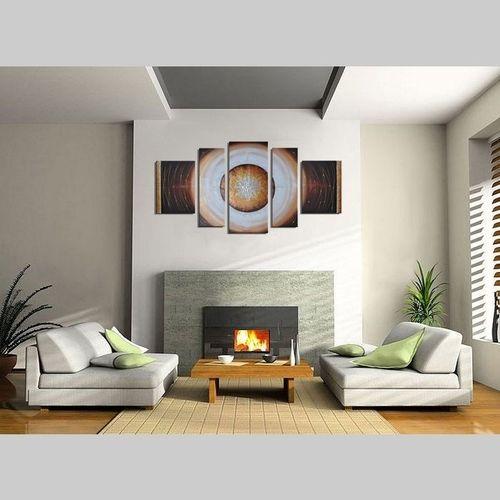5 Leinwandbilder ABSTRAKTE KUNST (12) 130 x 70cm Handgemalt - 2