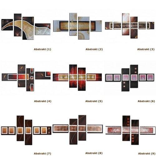 5 Leinwandbilder ABSTRAKTE KUNST (12) 130 x 70cm Handgemalt - 3
