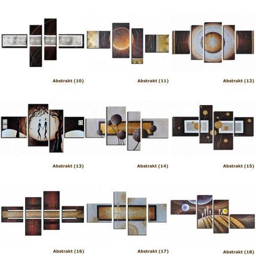 5 Leinwandbilder ABSTRAKTE KUNST (12) 130 x 70cm Handgemalt - 4