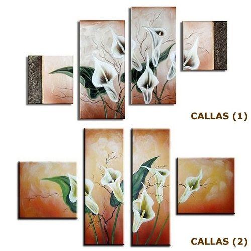 4 Leinwandbilder CALLAS (4) 120 x 80cm Handgemalt - 3
