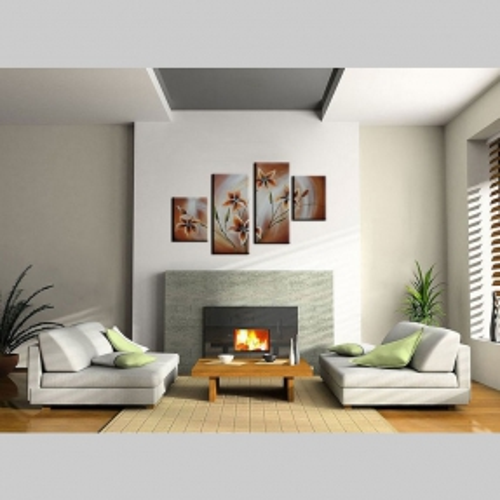 4 Leinwandbilder BLUMEN (3) 120 x 80cm Handgemalt - 2