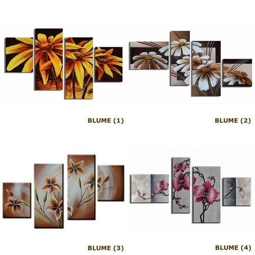 4 Leinwandbilder BLUMEN (3) 120 x 80cm Handgemalt - 3
