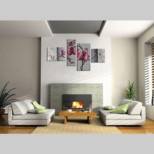 4 Leinwandbilder BLUMEN (4) 120 x 70cm Handgemalt - 2